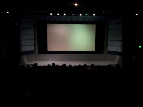 Cinema one - from the rear!
