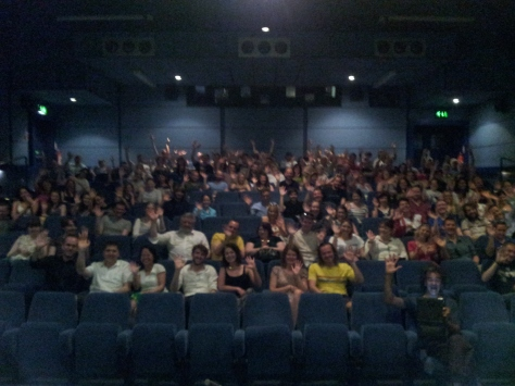 Audience in cinema one