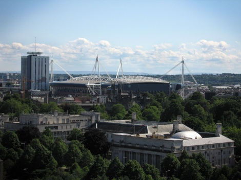 Cardiff's skyline these days, by Amy Taylor on Flickr