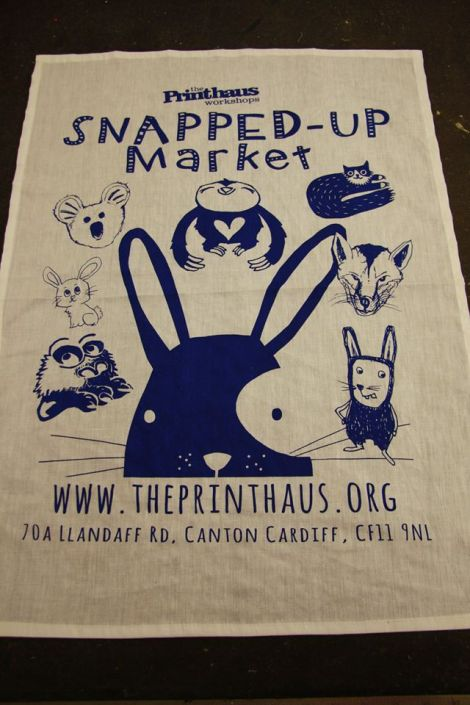 Snapped Up Market teatowel