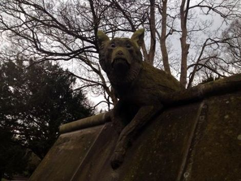 stone fox of bute park by jeremy rees