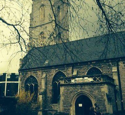 100 days in Cardiff – St John's Church from afar