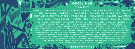 Green Man 2014 line up