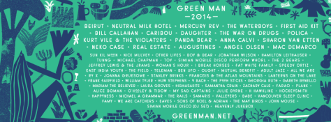 Green Man 2014 line up