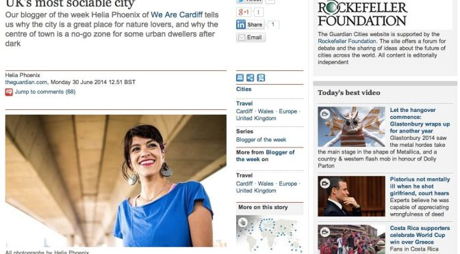 The urbanist's guide to Cardiff – blogger of the week on the Guardian!
