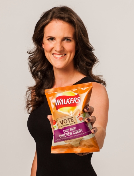 Walkers Do Us A Flavour finalist Emma G with her flavour Chip Sh