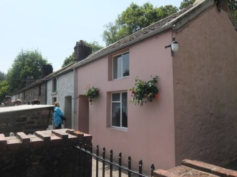 The pastel coloured 1980's exterior