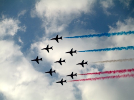 Red Arrows flyby NATO