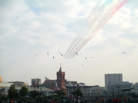Red Arrows flyby