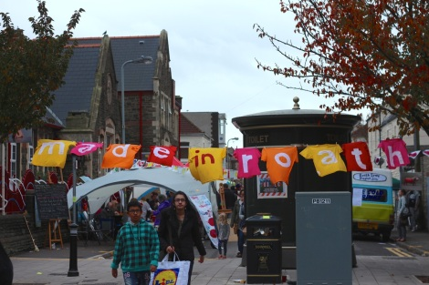 road block event, made in roath festival