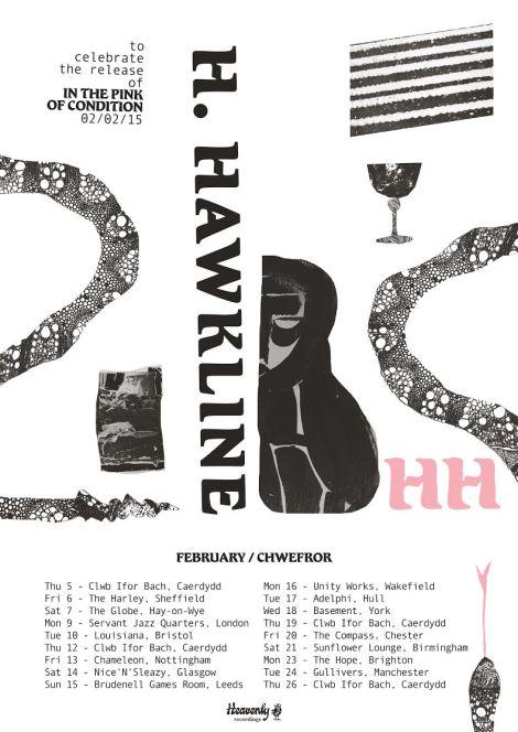 h hawkline tour 2015