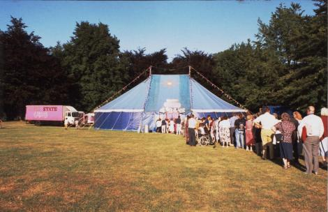 NoFit State Tent and audience