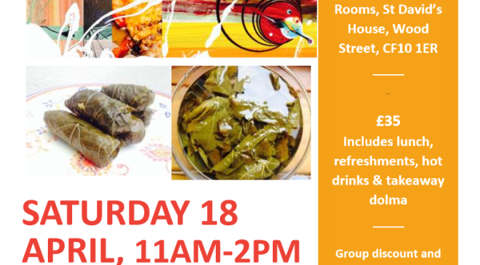 Dolma-licious! Learn to roll dolma with Lia's Kitchen, Saturday 18 April 2015