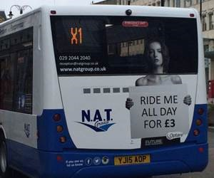 'Ride me all day' bus advert gets We Are Cardiff really angry – ads are withdrawn!