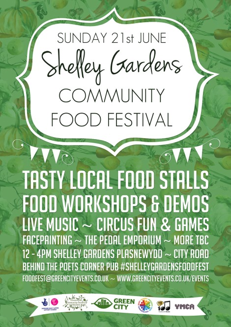 flyer for shelley gardens food festival 2015