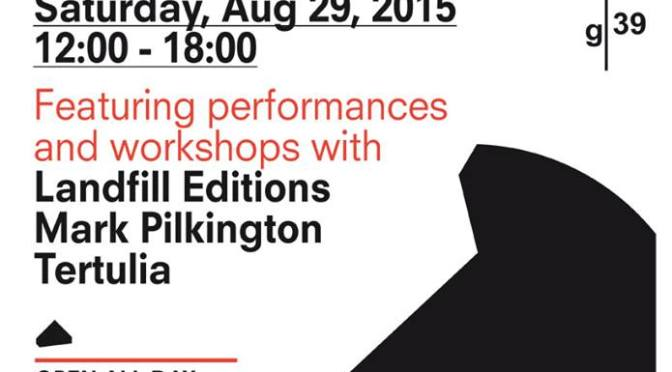 B – active, social, and experimental artists' book fair, Cardiff Saturday 29 August