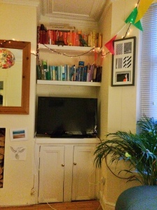 My bookshelves are rainbow colour coded. And?