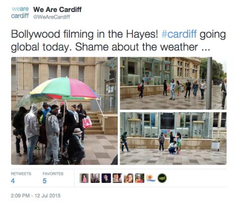 bollywood cardiff tweet