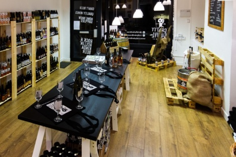 Cardiff, United Kingdom, November 26 2015. The newly opened Crafty Devil's Cellar store in Canton, Cardiff, Wales