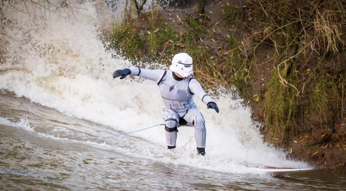 Merry Christmas! Celebrate with these pics of Star Wars Stormtroopers surfing the Severn Bore