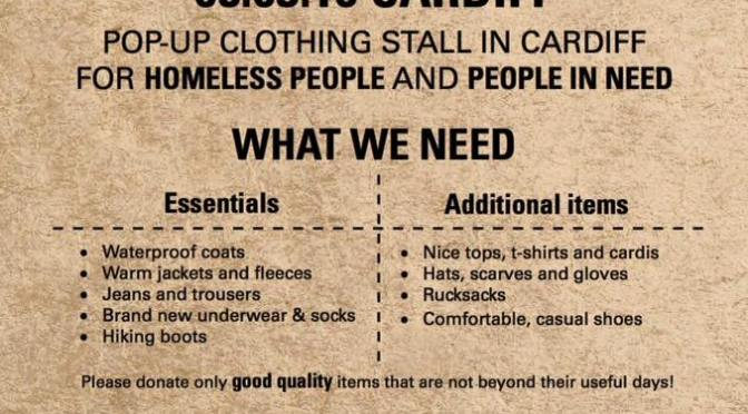 Donate clothes to help the homeless – pop-up clothing stall on 5 March