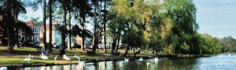 Roath Park lakeside