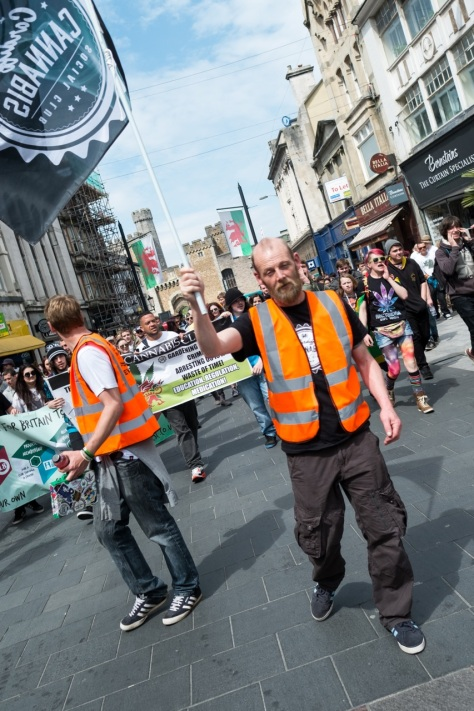 Cardiff City Centre, Cardiff, Wales, May 7, 2016: Cardiff CSC (Cannabis Social Club) organises the 6th Annual March through City Centre, in protest against the prohibition of Cannabis. Those participating are demanding the legalisation of cannabis for medical and recreational purposes. © Daniel Damaschin