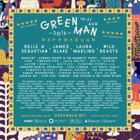 Green Man 2016 line up poster