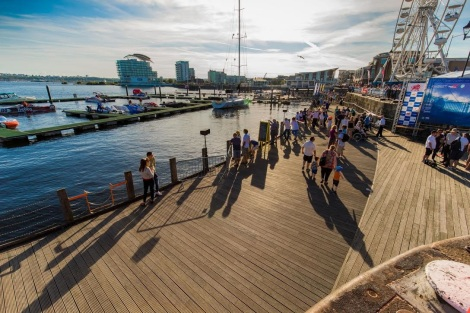 Cardiff Bay harbour view