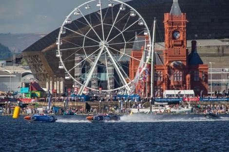 Big wheel in Cardiff Bay