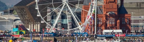 Big wheel in Cardiff Bay