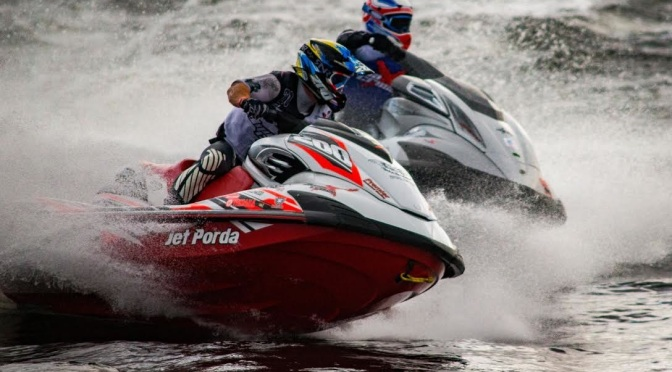 P1 Superstock and AquaX in Cardiff Bay