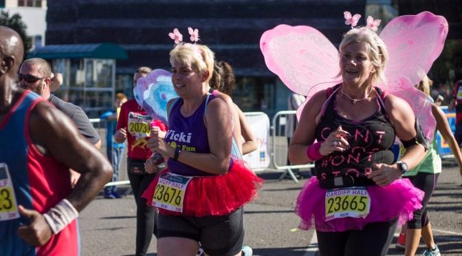 Running real fast … Cardiff half marathon 2016!