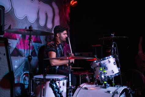 Drummer of Himalayas, James Goulborn performing in Moon Club at Swn Festival on Saturday 22nd October 2016.