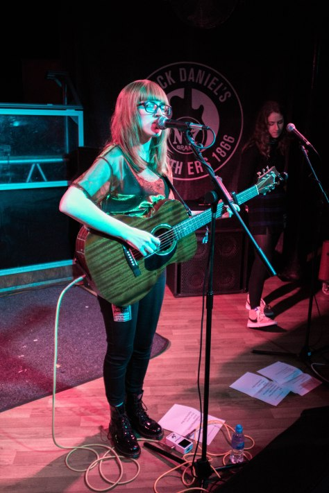 Ellie James commonly known as Ellie Makes Music, performing downstairs in Clwb Ifor Bach on Saturday 22nd October.