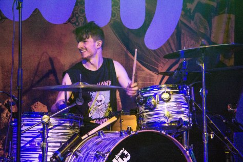 Drummer of Max Raptor, Pete Reisner performing in Tramshed, Cardiff on Saturday 22nd October.