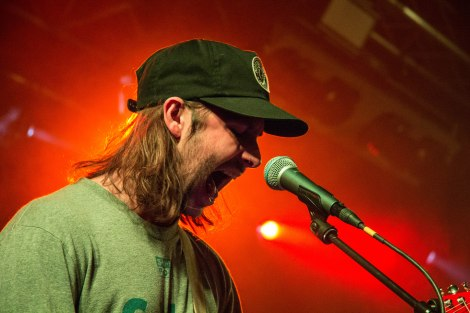 Lead singer and guitarist of Black Foxxes, Mark Holley, performing in Tramshed, Cardiff on Saturday 22nd October.