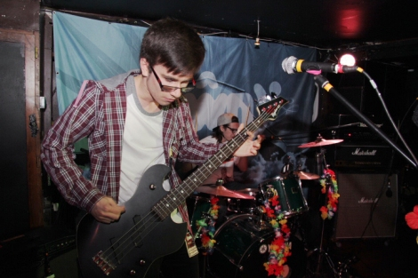 Bassist of Chroma, Liam Bevan, performing in Undertone, Cardiff on Sunday 23rd October.