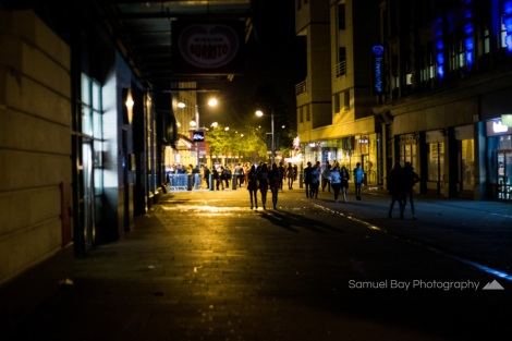 Revellers make their way from the City centre during Hallowe'en celebrations- 1st November 2016 - Queen Street Cardiff, United Kingdom. ©Samuel Bay