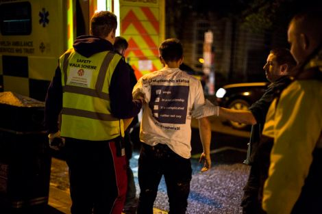 """UNITED KINGDOM; WALES; 24 January, 2017. Images taken from various nights with the """"Student Safety Walk"""", a volunteer based organisation created by student, Alastair Babington that sees to the safety of students while on a night out."""
