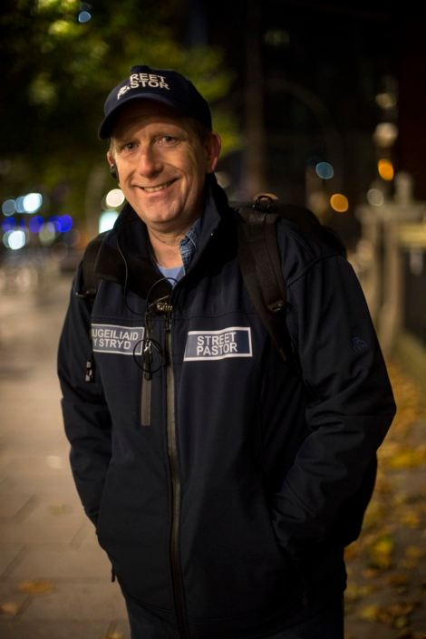 UNITED KINGDOM, WALES; November 14 2016. Portrait of Gary, the director of the charity that runs Street Pastors Cardiff. Gary has been volunteering since 2008.