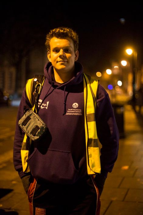 UNITED KINGDOM, WALES; December 18 2016. Portrait of Alastair Babington, student and organiser of the Student Safety Walk at Cardiff University.