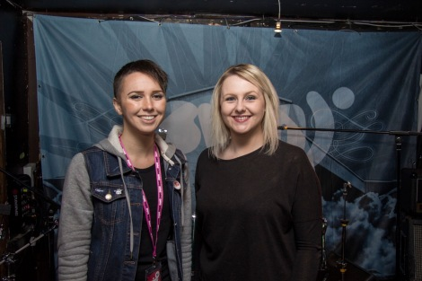 Samantha Bull, 26, and Dani Hewitt, 26, running a W.O.M.E.N panel (Women of Music Events Network) panel at Swn Festival 2016 to inspire young girls to achieve their dreams in music.