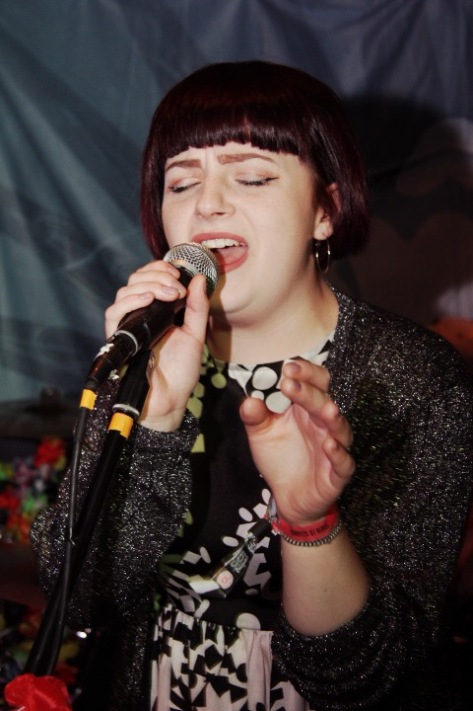 Lead singer of Chroma, Katie Hall, performing in Undertone, Cardiff on Sunday 23rd October.
