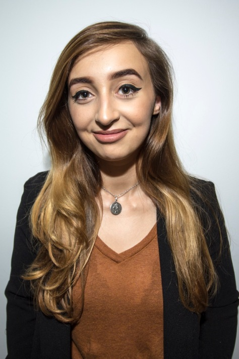 Rebekah (CORR) Price, 22, student at USW and radio presenter at Dragon Media.