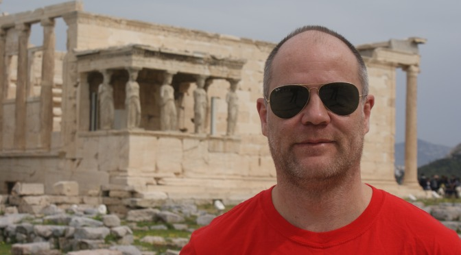 Setting challenging times for Velindre – a Greek running story, as told by Gwydion Griffiths